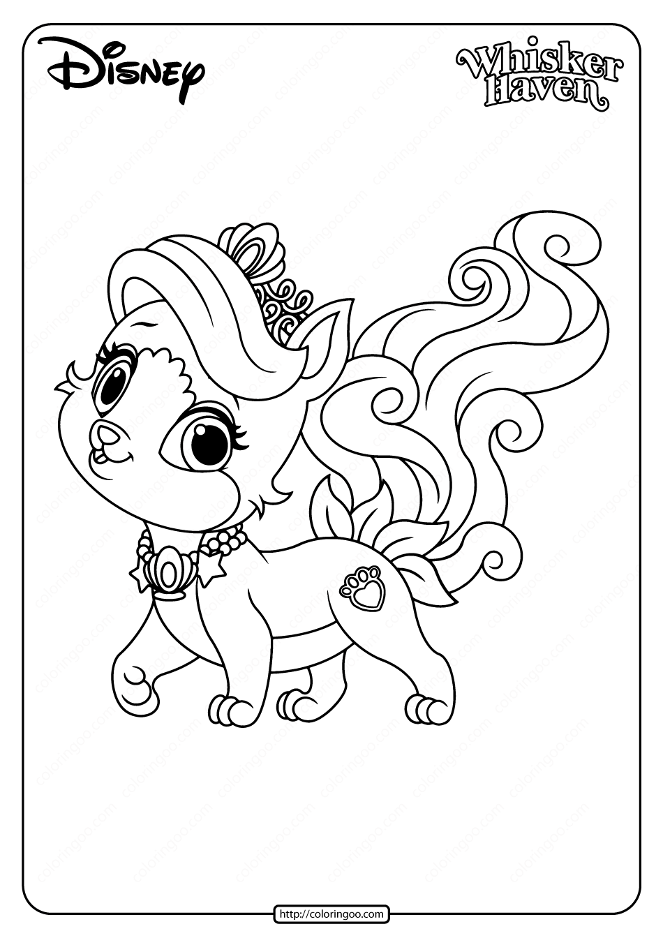 Printable Palace Pets Treasure Pdf Coloring Page