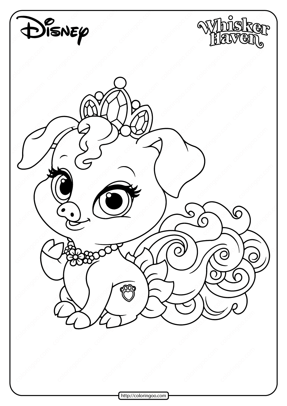 Printable Palace Pets Truffles Pdf Coloring Page