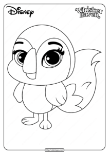 Printable Palace Pets Waddles Pdf Coloring Page