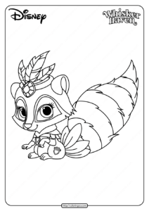 Printable Palace Pets Windflower Pdf Coloring Page