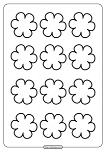 Printable Simple Flower Pattern Pdf Coloring Page