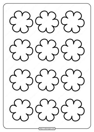 Printable Simple Flower Pattern Pdf Coloring Page