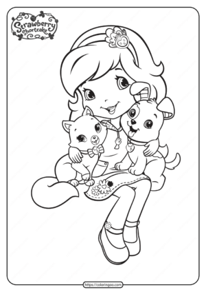 Strawberry Shortcake Custard and Pupcake Coloring