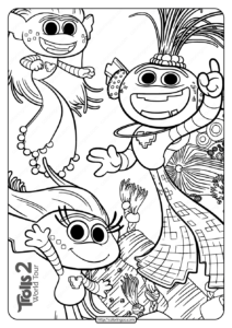 Free Printable Trolls 2 King Trollex Coloring Page