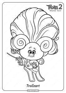 Free Printable Trolls 2 Trollzart Pdf Coloring Page
