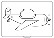 Free Printable Airplane Pdf Coloring Page 07
