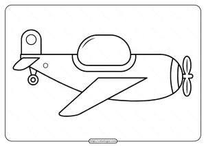Free Printable Airplane Pdf Coloring Page 07