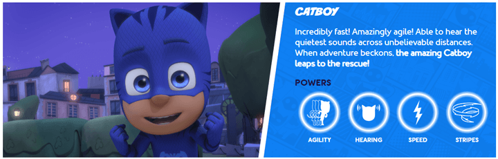 Printable PJ Masks Catboy Powers