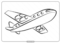 Free Printable Airplane Pdf Coloring Page 05