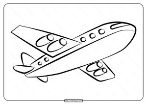 Free Printable Airplane Pdf Coloring Page 05