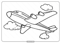 Free Printable Airplane Pdf Coloring Page 06