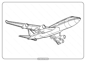 Free Printable Airplane Pdf Coloring Page 08