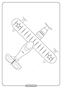 Free Printable Airplane Pdf Coloring Page 09