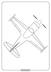 Free Printable Airplane Pdf Coloring Page 10