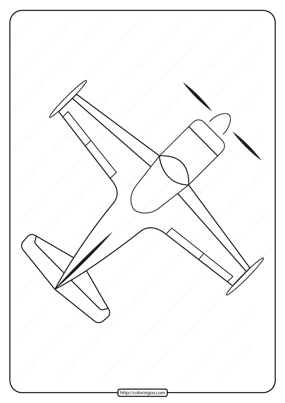 Free Printable Airplane Pdf Coloring Page 10