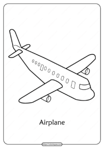 Free Printable Airplane Pdf Coloring Pages