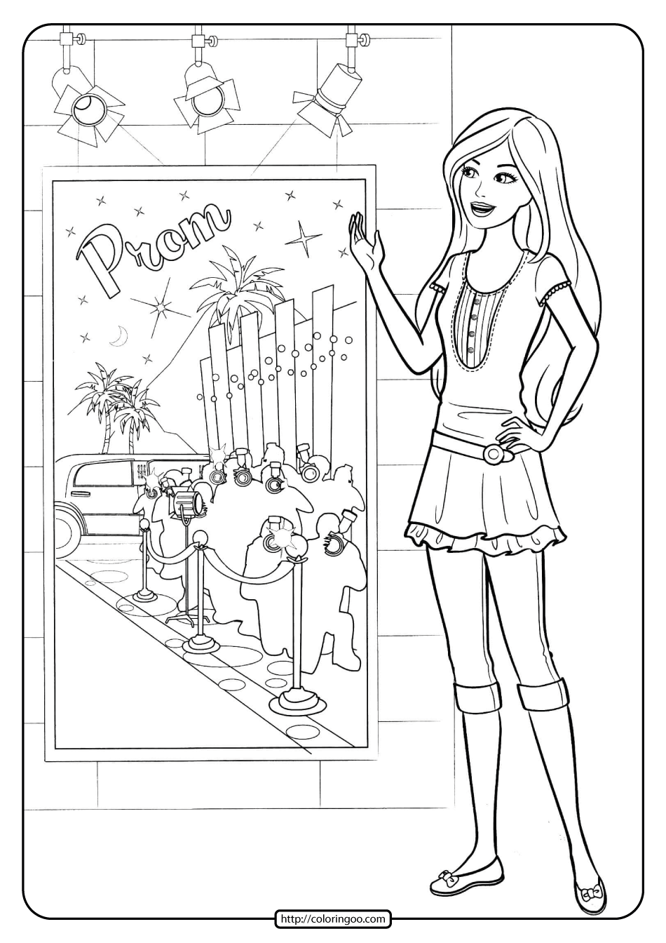 Printable Barbie Fashion Star Coloring Pages 19