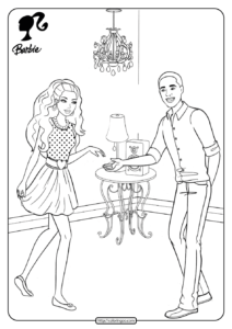 Barbie Dancing with Steven Coloring Pages 21