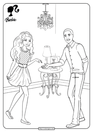 Barbie Dancing with Steven Pdf Coloring Pages 21