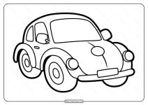 Free Printable Beetle Pdf Coloring Page