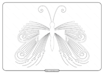 Free Printable Butterfly Pdf Coloring Pages 53