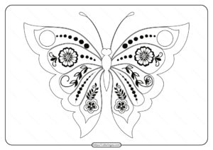 Free Printable Butterfly Pdf Coloring Pages 54