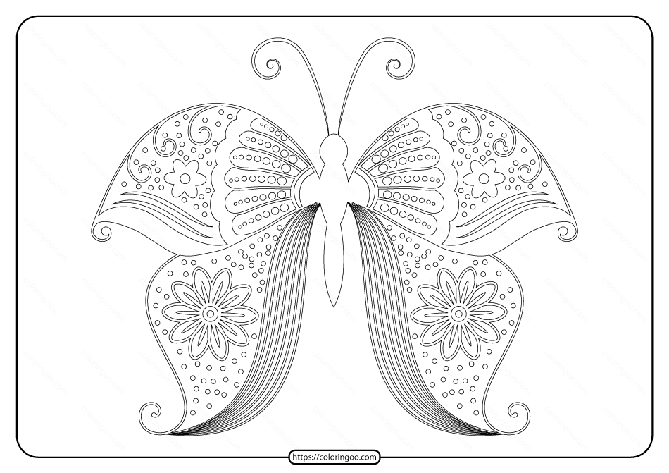 Free Printable Butterfly Pdf Coloring Pages 55