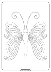 Free Printable Butterfly Pdf Coloring Pages 56