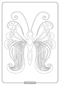 Free Printable Butterfly Pdf Coloring Pages 57