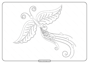 Free Printable Butterfly Pdf Coloring Pages 58