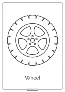 Free Printable Car Wheel Pdf Coloring Page