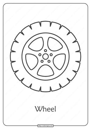 Free Printable Car Wheel Pdf Coloring Page