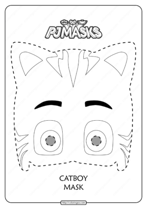 Free Printable Catboy PJ Masks Coloring Page