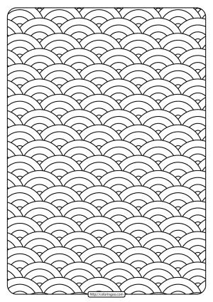 Free Printable Circular Shapes Pdf Coloring Page