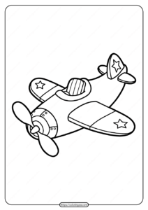 Free Printable Cute Airplane Pdf Coloring Page