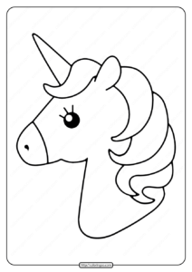 Free Printable Cute Unicorns Pdf Coloring Page