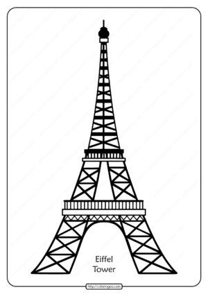 Free Printable Eiffel Tower Pdf Vector Outline