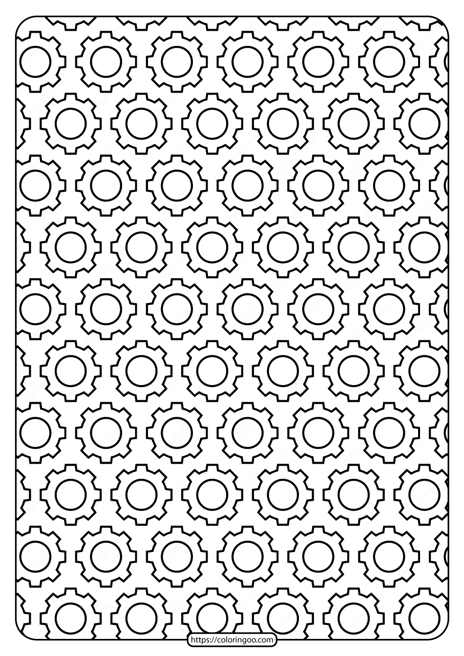 Free Printable Gear Outline Pdf Patterns 02