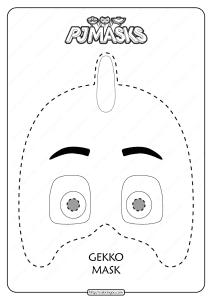 Free Printable Gekko PJ Masks Coloring Page