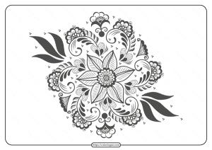 Free Printable Pdf Illustration of Mehndi Ornament - 02