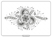Free Printable Illustration of Mehndi Ornament Pdf