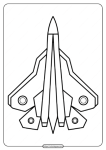 Free Printable Military Fighter Plane Coloring Page