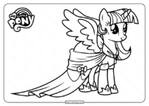 Free Printable MLP Twilight Sparkle Coloring Pages