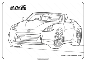 Free Printable Nissan 370Z Roadster Coloring Page