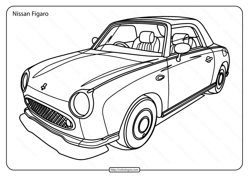 Free Printable Nissan Figaro Pdf Coloring Page