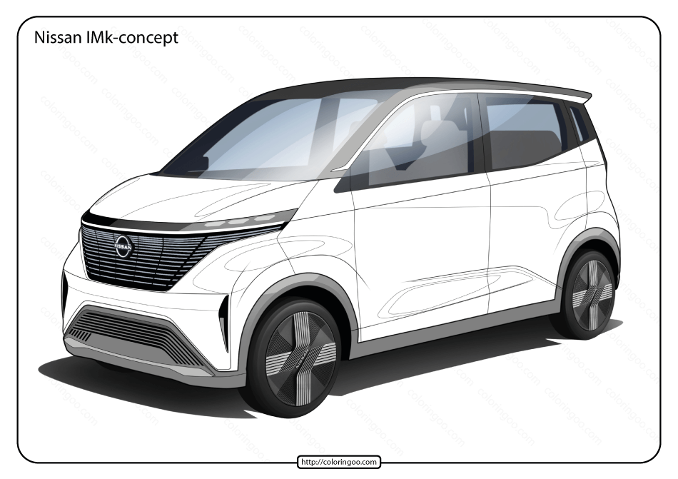 Free Printable Nissan IMk Concept Pdf Coloring Page