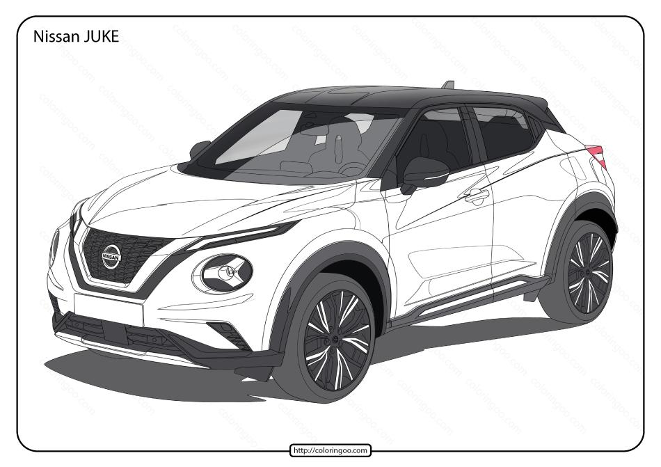 Free Printable Nissan Juke Pdf Coloring Page