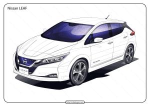 Free Printable Nissan Leaf Pdf Coloring Page