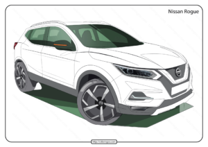 Free Printable Nissan Rogue Pdf Coloring Page