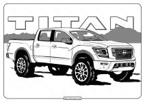 Free Printable Nissan Titan Pdf Coloring Page